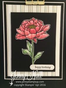 Floral on cardstock